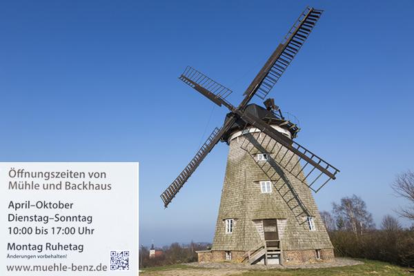 Mühle mit Text